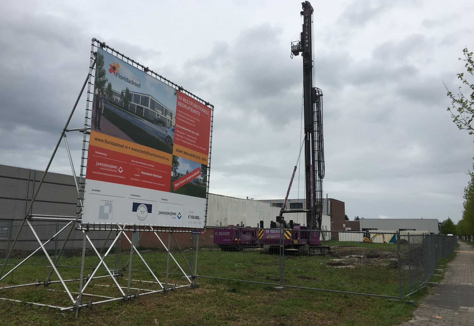 Thumbnail for Bouw bedrijfshuisvesting Floridadreef Utrecht gestart